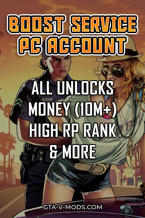 GTA 5 pc account boosting
